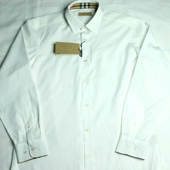 e15186c9 Burberry Shirts | London William White Sport Shirt | Poshmark